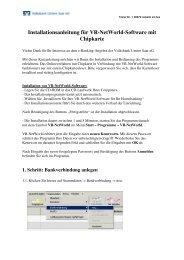 VR-Networld-Software und HBCI-Karte - Volksbank Untere Saar eG