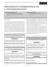 Tratamiento laparoscópico de la coledocolitiasis. - Sacd.org.ar