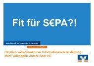 Vortrag Herr Cornelius - Volksbank Untere Saar eG