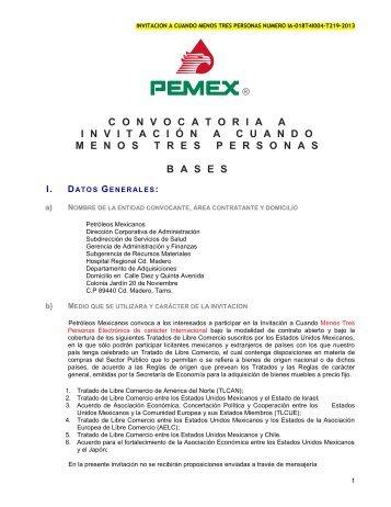 modelo de convocatoria a la licitacion publica nacional - PEMEX