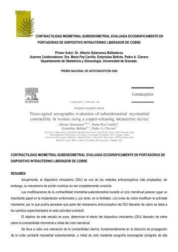 premio nacional de anticoncepción 2009. - Fundacion Española de ...