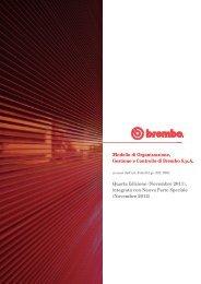 Modello di Organizzazione, Gestione e Controllo di Brembo S.p.A. ...