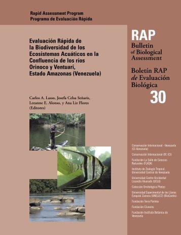Evaluación Rápida de la Biodiversidad de los Ecosistemas ...