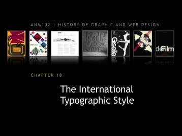 The International Typographic Style - ANM102 History of Graphic ...