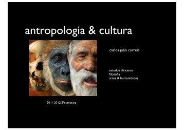 antropologia & cultura - Carlos João Correia