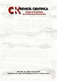 Revista Kinesiologos 22 - Colegio de Kinesiólogos de la Provincia ...