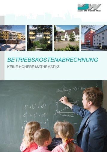 BETRIEBSKOSTENABRECHNUNG - VBW Bauen und Wohnen GMBH