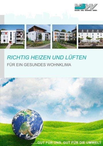 RICHTIG HEIZEN UND LÜFTEN - VBW Bauen und Wohnen GMBH