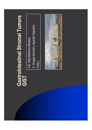 G astroIntestinalStrom alTum ors G IST - El Comprimido