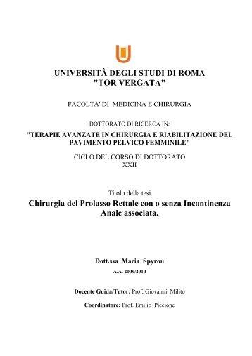 Tesi di dottorato dspace tor vergata universit for Elenco studi di architettura roma
