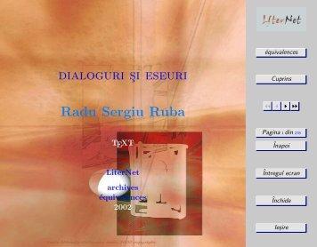dialoguri si eseuri Radu Sergiu Ruba - Equivalences.org