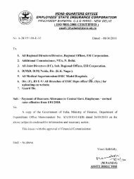 Payment of Dearness Allowance to Central Govt. Employees - revised