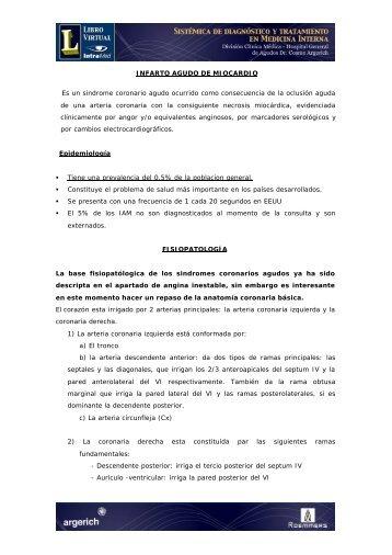 INFARTO AGUDO DE MIOCARDIO Es un sindrome ... - IntraMed