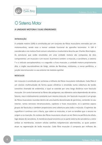 1 A UNIDADE MOTORA E SUAS SÍNDROMES - Instituto Paulo Brito