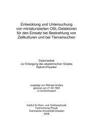Entwicklung und Untersuchung von miniaturisierten OSL-Detektoren ...