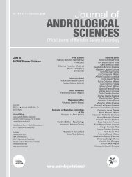 Volume degli Abstract - Jas - Journal of ANDROLOGICAL SCIENCES