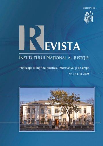 Consiliul INJ - Institutul Naţional al Justiţiei