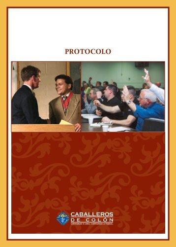 El folleto Protocolo de Caballeros de Colón (#1612S)