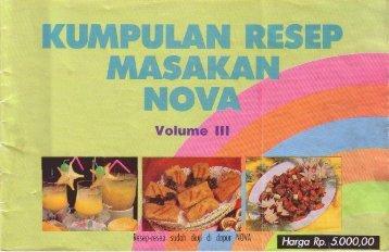 Kumpulan Resep Masakan Nova III