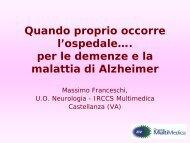 Intervento Massimo Franceschi - Osservatorio Nazionale sulla ...