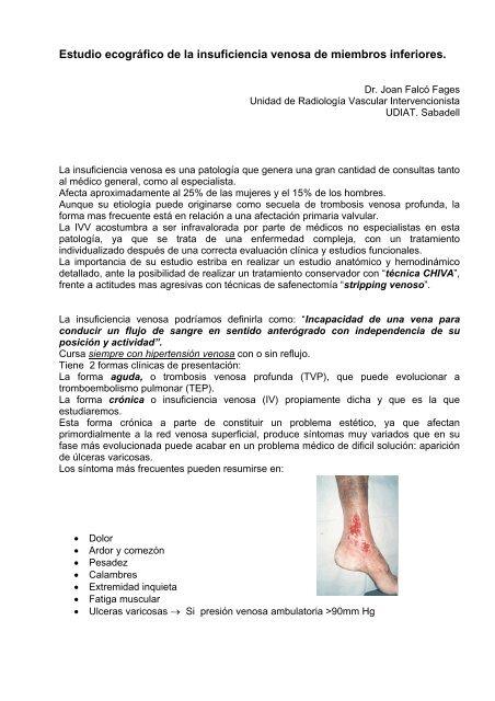 Venosa crónica profunda trombosis de radiología