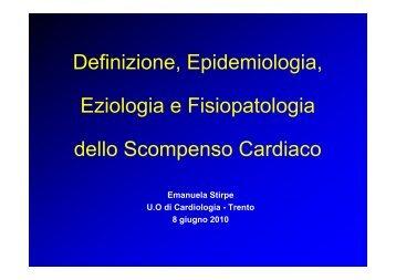 Definizione, Epidemiologia, Eziologia e Fisiopatologia dello ...