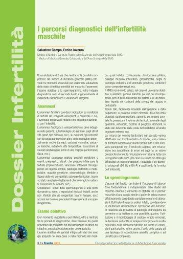 I percorsi diagnostici dell'infertilità maschile - Simg