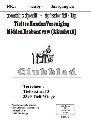 Het nieuwe Clubblad 2013/1 is er . Klik hier!! - Welkom bij de ...