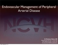 Endovascular Management of Aortic Aneurysms - Tucson Medical ...