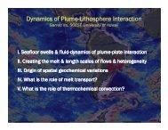 Dynamics of Plume-Lithosphere Interaction - University of Idaho