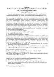 Umgang mit offenen radioaktiven Stoffen - Universität Regensburg