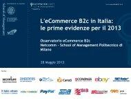 L'eCommerce B2c in Italia: le prime evidenze per il 2013