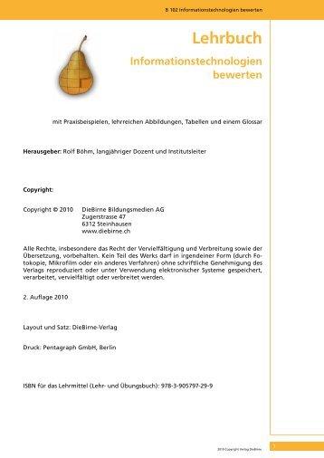 Lehrbuch Applikationen Strukturiert Konzipieren Diebirne Verlag