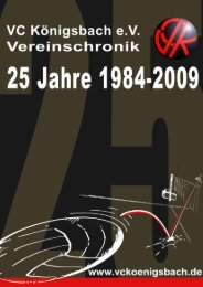 Chronik 25 Jahre VCK - Vckoenigsbach.de