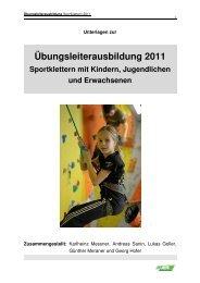 Übungsleiterausbildung 2011 Sportklettern mit Kindern