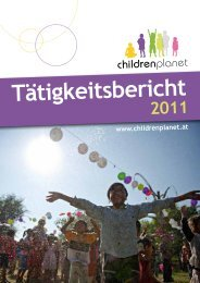 Tätigkeitsbericht 2011 (.pdf) - Childrenplanet
