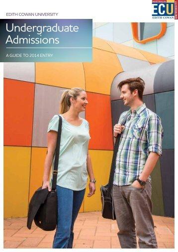 Admissions Brochure - Edith Cowan University