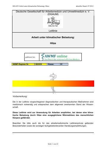 Langfassung - AWMF