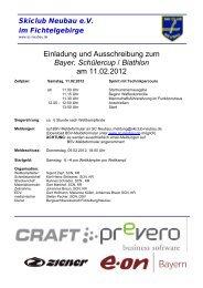 Einladung und Ausschreibung zum Bayer. Schülercup / Biathlon am ...