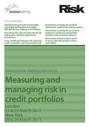 Download PDF - Measuring and managing risk in credit portfolios