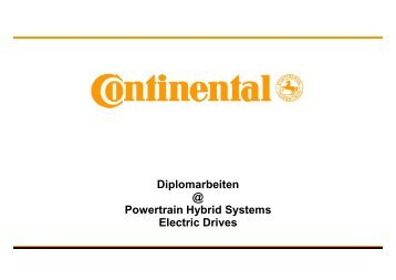 Diplomarbeit 1 @ Electric Drives