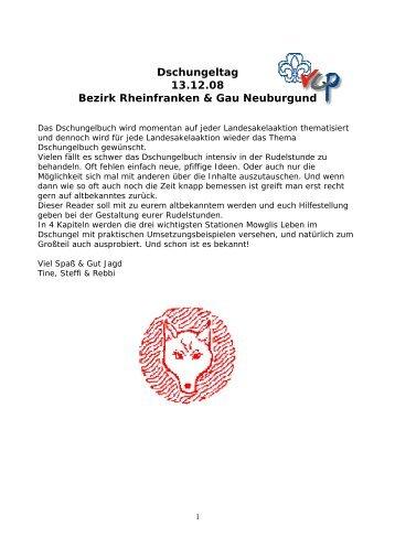 Dschungeltag Reader - VCP Trier Gau Tronje