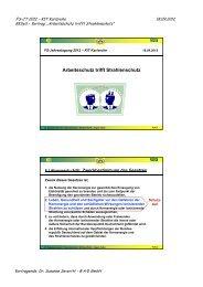 Arbeitsschutz trifft Strahlenschutz - Fachverband für Strahlenschutz eV