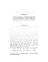 A CONE THEOREM FOR NEF CURVES 1 ... - Rice University