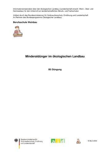 Minderaldünger im ökologischen Landbau - Oekolandbau.de