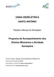 usina hidrelétrica santo antônio - Ibama