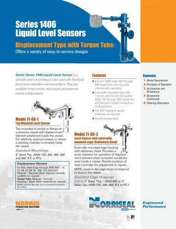 Series 1406 Liquid Level Sensors - Norriseal