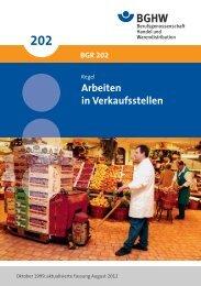 Arbeiten in - Berufsgenossenschaft Handel und Warendistribution