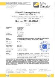 Klassifizierung Brandverhalten DIN EN 13501-1 - Renusol