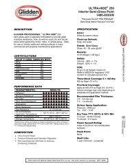 ULTRA-HIDE® 250 Interior Semi-Gloss Paint 1406-XXXXN - DuSpec